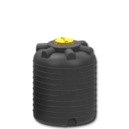 Емкость для воды 2000 литров черная