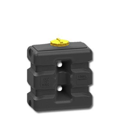Прямоугольная емкость 1000 литров черный