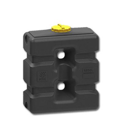 Прямоугольная емкость 1500 литров черный