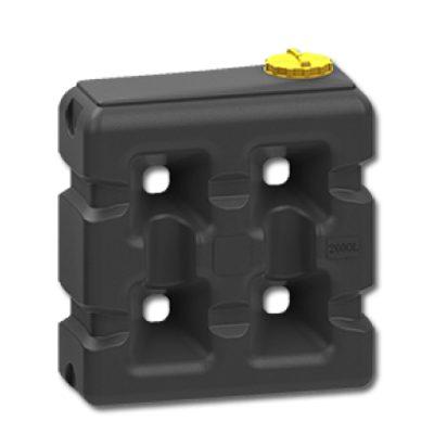 Прямоугольная емкость 2000 литров черная