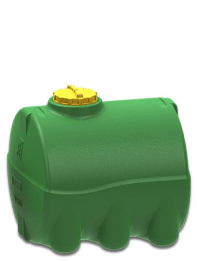Емкость горизонтальная 3000 литров зеленая