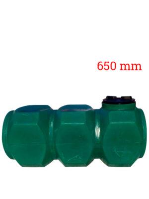 Бак пластиковый прямоугольный | 500 л | горизонтальный