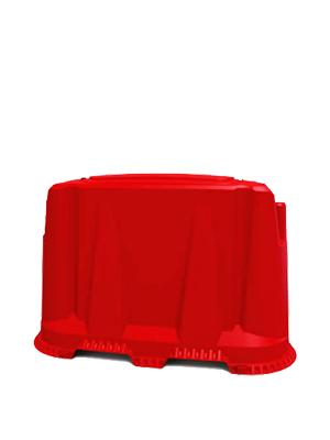 Дорожный блок   красный   пластиковый 1,2 м