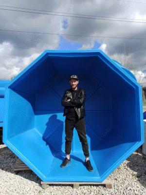 Купель пластиковая | восьмигранная | 5000 л